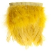 Coque/marabou Trim 6-7in 1Yd Approx 17g Yellow